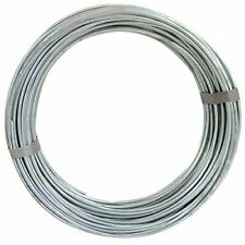 9 Gauge 50ft Self Tying Galvanized Steel Wires for Fastening & Crafts (2-Pack)