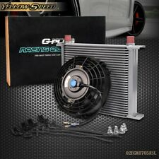 """New ListingNew Universal 30 Row 10An Engine Transmission Oil Cooler Kit + 7"""" Electric Fan"""