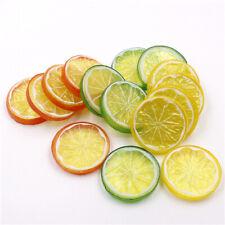 2/5pcs Lifelike Decorative Artificial Plastic Lemon Slices Fake Fruit Home Decor