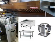 4FT Food Truck Package, Includes Hood, Griddle, Stand and Fryer