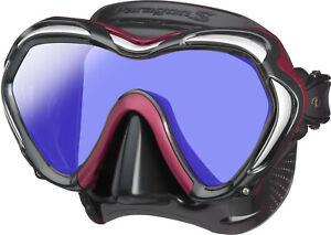 Tusa Paragon S Mask Scuba Diving, FreeDiving, Snorkeling Metallic Dark Red