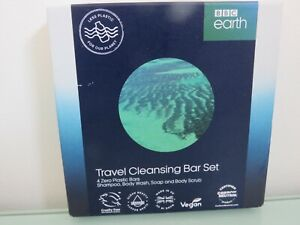 BBC EARTH BLUE PLANET CLEANSING TRAVEL BAR SET BNIB