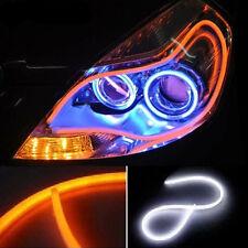 1 X 60cm Flexible Audi Style Neon Tube SWITCH BACK DRL CAR / BIKE- WHITE/ AMBER