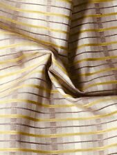 Stunning lime green and gold striped Upholstery Fabric Material 140cm wide D3016