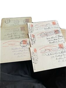 6 Postcards From Philip Peabody Dated 1900's