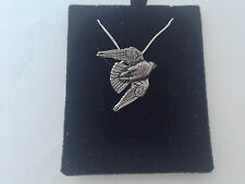 B15 Stooping Falcon on a 925 sterling silver Necklace Handmade 18 inch chain