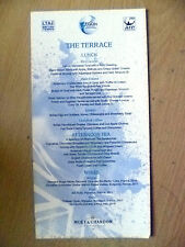 De tennis britannique-La Terrasse Lunch Menu 2007 (Original *)