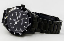 Automatic Men's Watch Solid Stainless-Steel Black-Gehäuse New Series with Day
