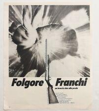 Pubblicità 1972 FUCILE FRANCHI ELDORADO CALIBRO 12 advertising publicitè werbung