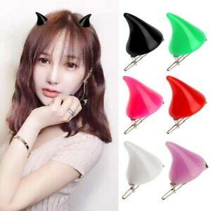 1 Pair Small Demon OX Horn Hair Pins Gothic Party Cosplay Pin Hairpins Costume