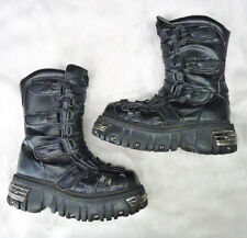 Anarchic Boots 7 Black Buckles Strap Gothic Goth Industrial Tall Combat Platform