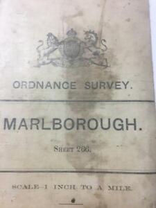 1905 Antique Map Marlborough Calne Chiseldon Wroughton Avebury W Kennet Cherhill