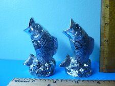 Plastic Silver Fish - Vintage Salt & Pepper Shakers