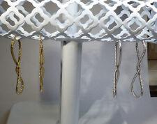 """14k Yellow OR White Gold Italian 2 & 1/16"""" Ballerina Design Saddleback Earrings"""