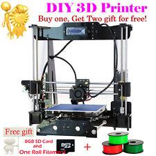 Print 5 Filament DIY 3D Printer Upgraded Auto Level Acrylic High Reprap Prusa i3