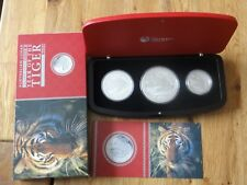 3 Coin Set Lunar Tiger Proof PP Lunar 2010