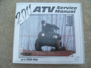 2011 Arctic Cat 450 550 650 700 1000 Service Manual on CD