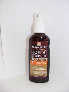 Rona Ross Coconut Bronzing Oil  SPF 4 160ml.  EXPRESS P&P
