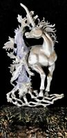 Unicorn Carved Brooch Silver Pewter Jewelry Pin by JJ Jonette
