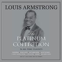Louis Armstrong Platinum Collection 3LP Gatefold White Vinyl Record 36 Classics