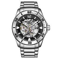 Stuhrling 3963 1 Automatic Skeleton Stainless Steel Bracelet Mens Watch