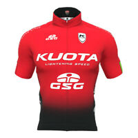 Short Sleeve Cycle Jersey Kuota Black Red Road Bike Clothing GSG