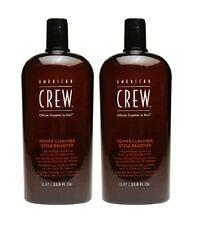 2 X AMERICAN CREW POWER CLEANSER STYLE REMOVER SHAMPOO 33.8 OZ ( 2 BOTTLES )