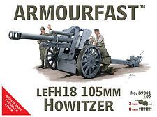 NUOVO Armourfast 1/72 Lefh18 105mm Howitzer Kit Modello - CONTIENE 2 Pistole