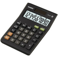 Casio Calculator Large 10 Digit Display Dual Powered Plastic Keys Tax Function