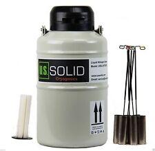 3 L Liquid Nitrogen Tank Container Storage Dewar Ln2 6 Canisters Us Solid
