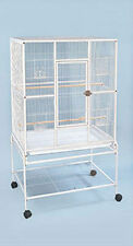 "Large New Bird Parrot Cage Cockatiel Conure 32""x19""x64"" Wrought Iron Flight 593"