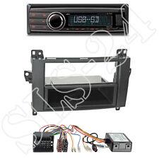 CALIBER rmd212 radio + MERCEDES C-kl. (Facelift) 1-din MASCHERINA + CAN-BUS Adapter