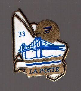 Pin's la poste / département de la Gironde 33 (pont d'Aquitaine)