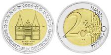 BRD 2 EURO HOLSTENTOR LÜBECK 2006 SCHLESWIG-HOLSTEIN - Prägebuchstabe J