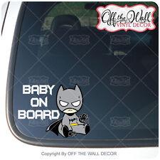 "Baby Batman""BABY ON BOARD"" Sign Vinyl Decal Sticker"