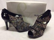 Style&Co WONDERWRK Women's Heels Platform Shoes,Bridal.Black, Size 10 M