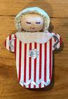 Vintage Christmas Spun Cotton Baby in Striped Pajamas Ornament Decoration
