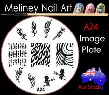 A24 Stamping Nail Art Image Plate Design Round XL Stencil metal