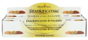 Elements Frankincense and Myrrh Incense Joss sticks. 20 sticks, 1 pack.