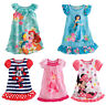 Kids Girls Minnie Mouse Summer Dress Nightdress Nightgown Nightie Sleepwear