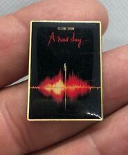 Celine Dion Lapel Pin A New Day Collectible Pinback Red Gold Trim Pd
