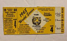 Vintage 1968 World Series Game 4 Ticket Stub Detroit Tigers/ St Louis Cardinals