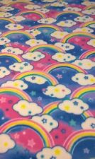 RAINBOWS, CLOUDS & STARS  BABY BLANKET ( Multi-Colors) FREE SHIPPING