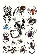 Temporay Körper Schmuck Tattoo Einmal Tatoo Tätowierung Bodyart Skorpion Spider