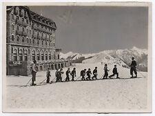 PHOTO RÉHAUSSÉE PEINTE Sports d'Hiver Ski École ALIX Bannières de Bigorre 1940 ?
