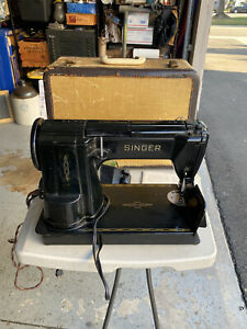 Singer Black 301A Sewing Machine Slant Needle Heavy Duty With Pedal