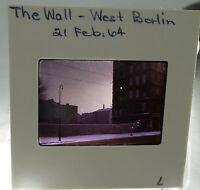 The Wall West Berlin Germany 1964 Original Kodachrome Color Slide #7