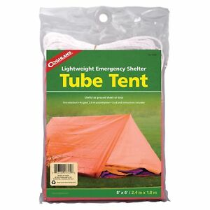 Coghlan's Tube Tent Emergency Lightweight Rugged Polyethylene Camping Shelter