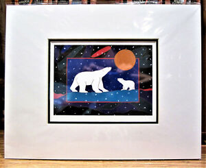 Metis Yellowknife 'First Winter' Contemporary Native Art Unframed Picture Print