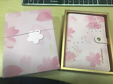NEW Rare Starbucks China 2017 Cherry Blossom Notebook Set With A Ballpoint Pen